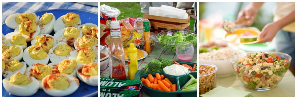 collage picnic food safety