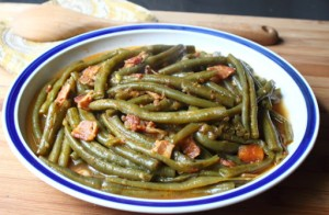 green beans slow cooked