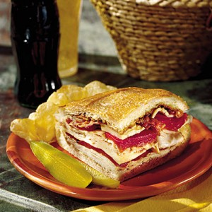 turkey-bacon-havarti sandwich