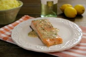 Salmon-and-White-Wine-Lemon-Butter-Sauce