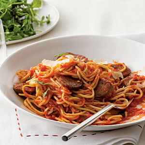 spaghetti-with-sausage