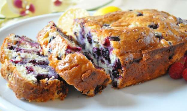 bread lemon and blueberry
