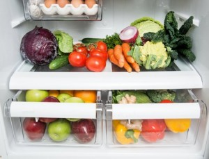 produce in frig