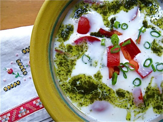 Chilled Buttermilk Soup with Tomato and Basil | Blog ...