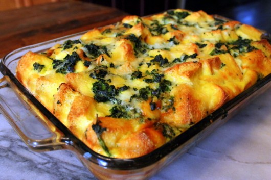 strata spinach cheese