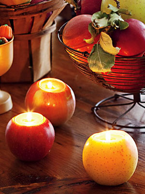 apple candleholder
