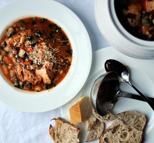 soup italian bread tomato