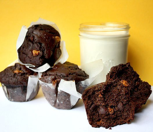 muffin double choco butterscotch