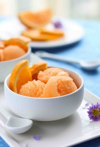 cantaloupe orange sorbet