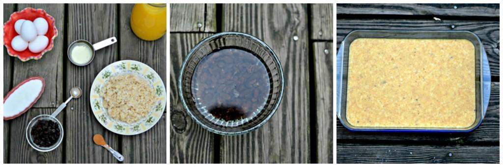 collage Kugel sweet brown rice