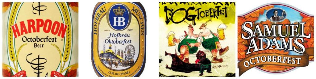 collage Oktoberfest beers