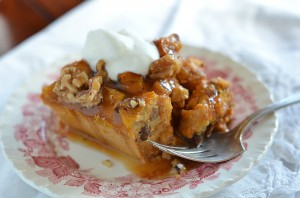 PumpkinBreadPudding with carmel sauce