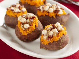 sweet potatoes stuffed with pecans