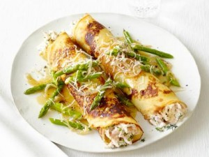 crepes chicken and asparagus