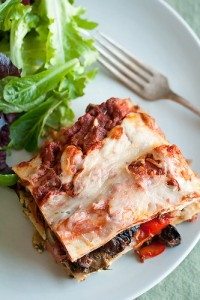 pasta roasted vegetables lasagna