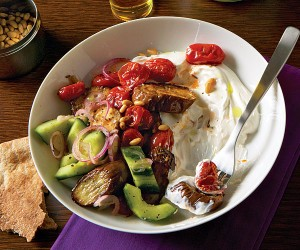 eggplant roasted cucumbers yogurt