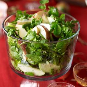 salad apples romaine arugula