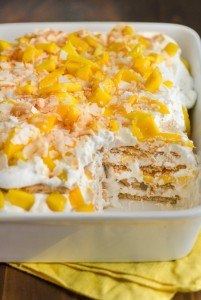 cake icebox mango coconut