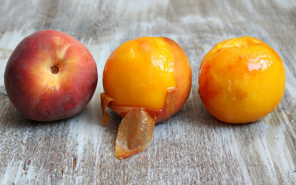 peaches peeled stages