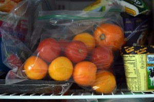 tomatoes in freezer