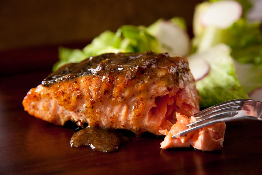 salmon grilled maple and mustard