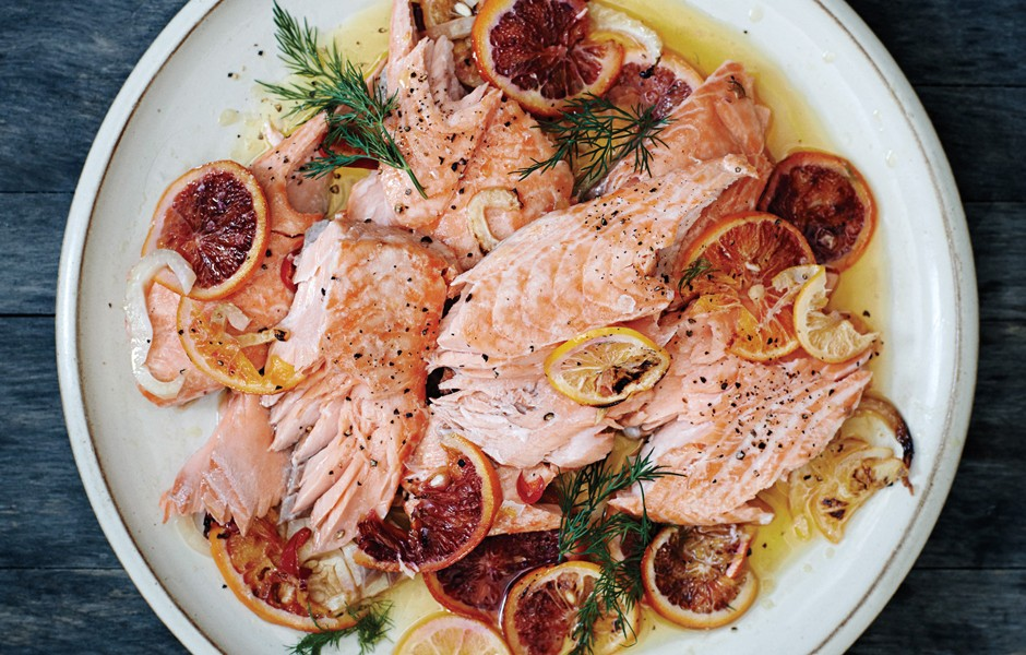 Salmon fennel-citrus-and-chiles