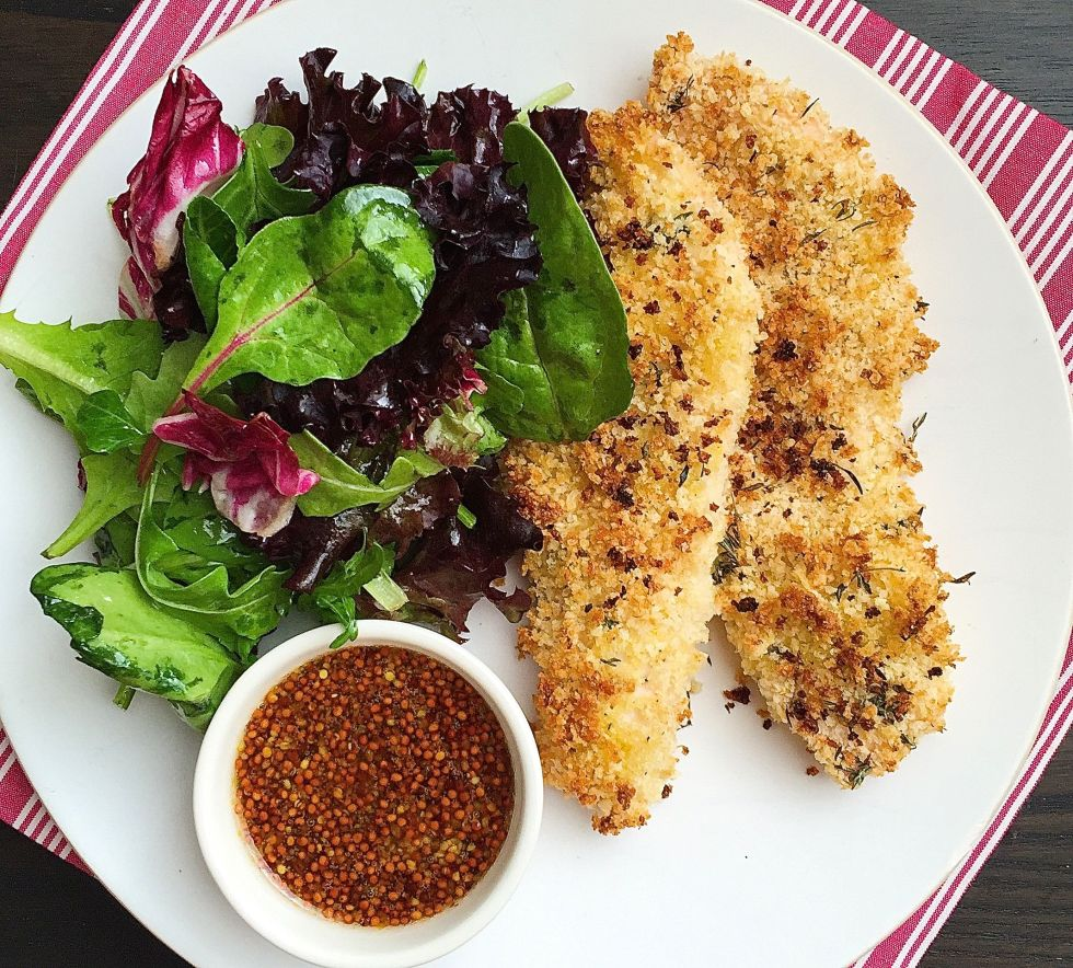 chicken fingers oven baked honey mustard